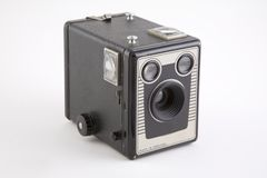 A vintage box camera. With logos etc removed Stock Photos