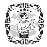 Vintage Boxer Tattoo Stock Photography
