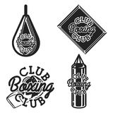 Vintage boxing club emblems. Boxing related design elements for prints, posters. Vector vintage illustration Stock Photography