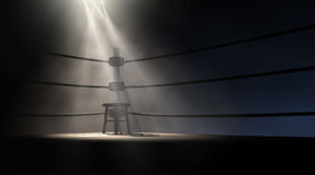 Vintage Boxing Corner And Stool Royalty Free Stock Image