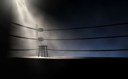 Vintage Boxing Corner And Stool Royalty Free Stock Photo