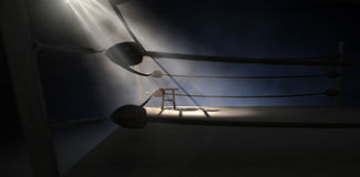 Vintage Boxing Corner And Stool Stock Images