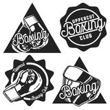 Vintage Boxing emblems Stock Photography