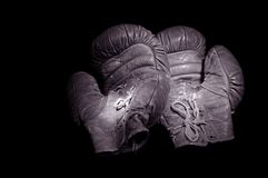 Vintage Boxing Gloves Stock Photos