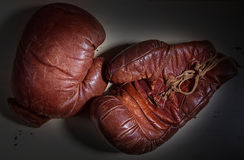 Vintage Boxing Gloves Stock Photo