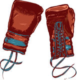 Vintage boxing gloves vector illustration Royalty Free Stock Photo