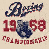 Vintage Boxing Gloves Vector Illustration Royalty Free Stock Image