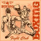 Vintage boxing poster Stock Photography