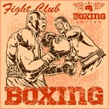 Vintage boxing poster Stock Photo