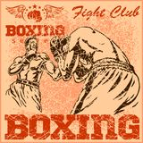 Vintage boxing poster Royalty Free Stock Photography