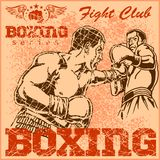 Vintage boxing poster Royalty Free Stock Photo