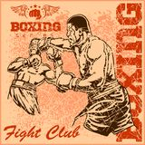 Vintage boxing poster Stock Images