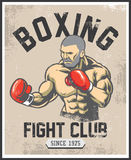 Vintage boxing poster Royalty Free Stock Image