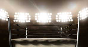 Vintage Boxing Ring In Arena Royalty Free Stock Photo