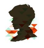 Vintage boy silhouette Royalty Free Stock Photos