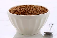 Vintage bran cereal breakfast Stock Photo