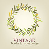 Vintage branch with leaves for decoration greeting cards, wedding invitation Stock Photo