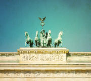 Vintage Brandenburg Gate (Brandenburger Tor) Stock Photo