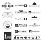 Vintage brands and logo elements Royalty Free Stock Photos