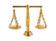 Vintage brass balance scale Royalty Free Stock Image