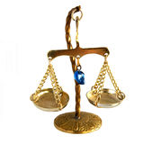 Vintage brass balance scale Royalty Free Stock Photo