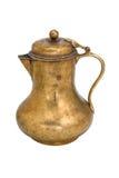 Vintage brass copper pitcher Stock Photos