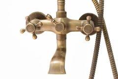 Vintage brass douche Royalty Free Stock Photo