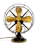 Vintage brass fan in Black Royalty Free Stock Photos