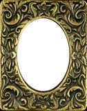 Vintage Brass Frame Stock Photo