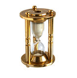 Vintage brass hourglass Stock Image