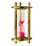 Vintage brass hourglass Stock Photos