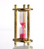 Vintage brass hourglass Royalty Free Stock Image