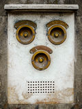 Vintage Brass Intercom Stock Image