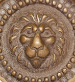 Vintage brass lion abstract Royalty Free Stock Image