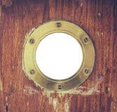 Vintage Brass Porthole Royalty Free Stock Photography