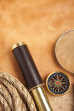 Vintage brass telescope Royalty Free Stock Image