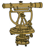 Vintage brass theodolite Royalty Free Stock Photo