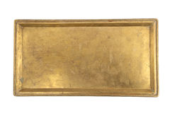 Vintage brass tray Royalty Free Stock Photo