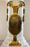 Vintage brass vase Stock Photo