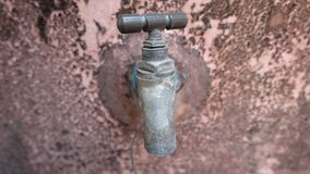Vintage Brass Water Tap stock images