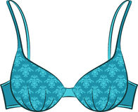 Vintage brassiere with ornament. Stock Image