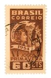 Vintage Brazil Postage Stamp. On White Background Stock Images