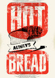 Vintage breadshop typography grunge style poster. Vector illustration. Royalty Free Stock Photo