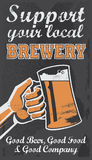 Vintage Brewery Beer Poster - Chalkboard Vector Illustration Stock Images