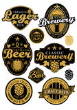 Vintage Brewery Label. EPS 10 file and large jpg included Royalty Free Stock Photo