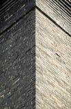 Vintage brick building exterior abstract Stock Photos