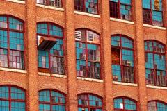 Vintage brick mill facade Stock Photography