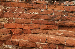 Vintage brick wall. Vintage  abandoned red brick wall Stock Photos