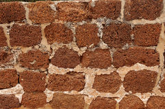 Vintage brick wall. Vintage  abandoned very oldest red brick wall Stock Images