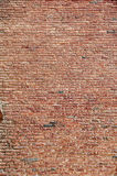 Vintage brick wall. Vintage abandoned red brick wall Royalty Free Stock Photos